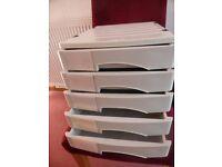 5 drawer desktop filing system