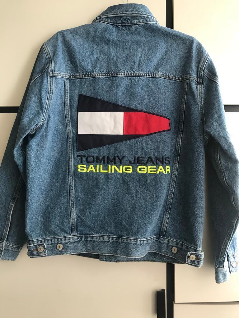 94d61a16 Tommy Jeans 90s Capsule Denim Jacket 5.0 With Back Sailing Logo ...