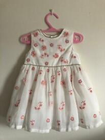 """mamas & papas"" Floral Baby Dress (3-6 months)"