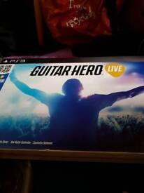 Guitar hero bundle for ps3