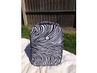 Zebra print cabin size suitcase