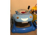 Blue mothercare Car (baby walker)