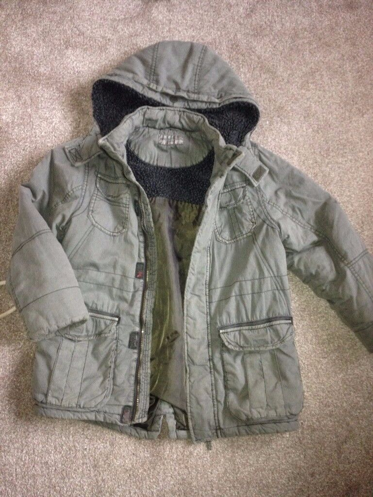 M&S Boys parka jacket age 9-10