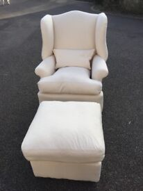Like new Arm Chair and Poof
