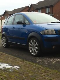 Price drop, 04, Audi A2, 1.6 FSI, good cond, timing belt done, good service history, MOT exp Aug 18