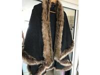 Faux fur cape one size