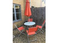 Garden Table and 4 chairs with umbrella