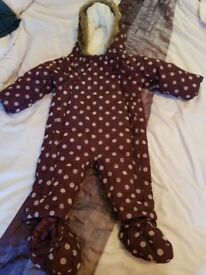 Purple baby girl snow suit 6-9 months