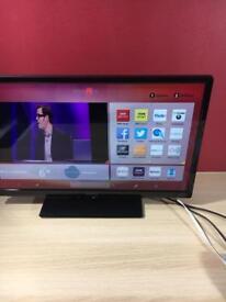 24 inches Hitachi Smart TV + DVD and USB