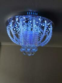 Chandelier with speakers and USB port