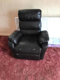 Free Leather Reclining Chair