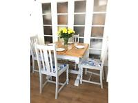 VINTAGE TABLE+CHAIRS FREE DELIVERY LDN🇬🇧SHABBY CHIC