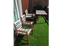 Garden Table ,2 Chairs, bench and small table (SOLD PENDING COLLECTION)