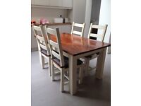 Set of 4 dining/kitchen chairs and table SW8