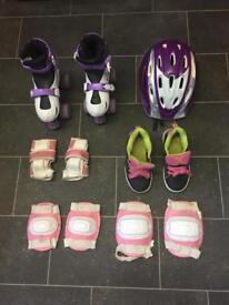 Kids Size 11 Roller Skates,And Size 11 Heelys
