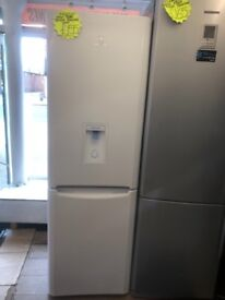 INDESIT FROST FREE FRIDGE FREEZER WITH WATER DESPENSER IN WHITE