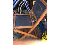 3 Solid wooden garden Chairs Mohagani