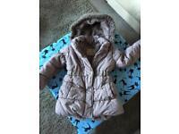 Girls winter jacket / coat, John Rocha, Debenhams designer, 2-3 years age