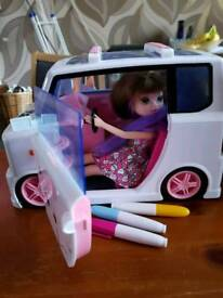 Fab moxie girlz car comes with doll