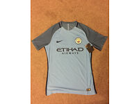 GENUINE NIKE MANCHESTER CITY PLAYER ISSUE AEROSWIFT HOME SHIRT LARGE NEW TAGS