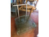 Unusual contemporary glass side table