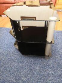 Glass TV stand-Black