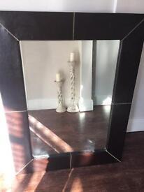 Large leather look mirror (John Lewis)