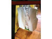 Mans silver grey waistcoat with cravat