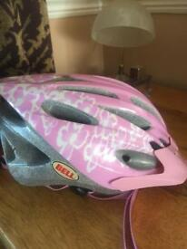 Bell girl helmet 50-57cm with hi-vis vest 7-9 years