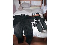 Martial Arts Gi Uniform Ninjutusu, Jujutsu, Karate. Ninja Outfit. Tabi. Black