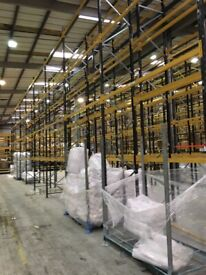 JOB LOT link pallet racking excellent condition ( pallet racking , industrial storage )