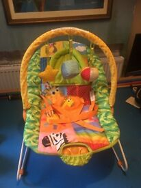 Baby by Chad valley Deluxe Bouncer Vibrate And plays music