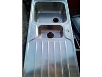 Stainless steel sink double bowl