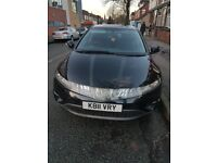 Honda Civic 1.4 Petrol Black, Private Number Plate 2007