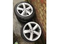 Audi A3 A5 A6 sline alloy wheels 18inch with tyres