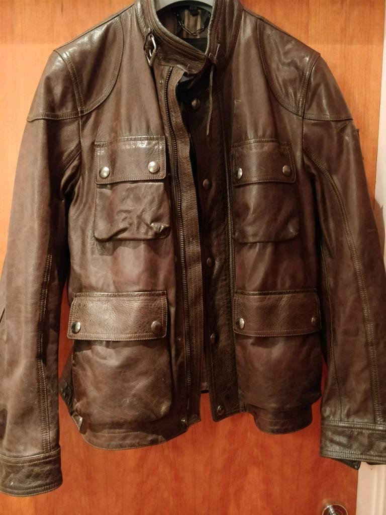 Belstaff Leather Jacket Worn Twice Like New In