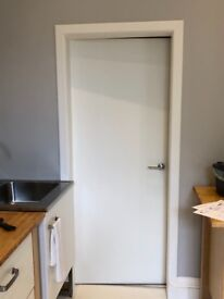 Solid white internal door and handle FREE