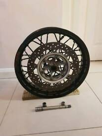 XT660 X wheels and forks