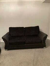 DFS black 3 seater and Large 2 sofa £350