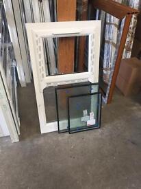 2 x Upvc window with mock sash horns and glass