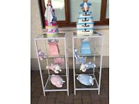 X 3 Glass Display Shelving Units Can Be Painted, Lovely.