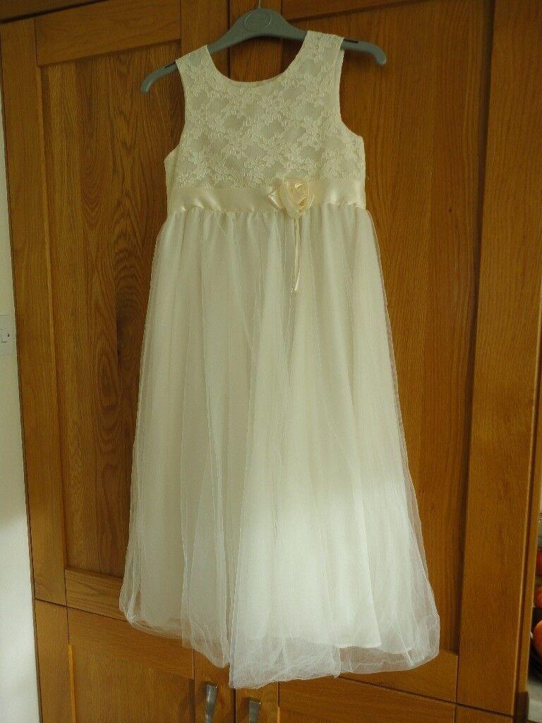 Beautiful Bridesmaid Dressflower Girlprom Dress Not Worn Ivory