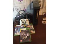 Xbox 360 and three games