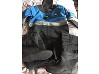 oceanic Aerdura XL dry suit for sale size 11 boots RRP £1000