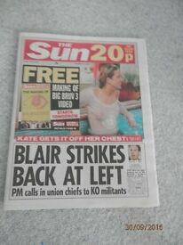 THE SUN NEWSPAPER DATED FRIDAY, JULY 19th, 2002