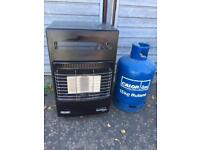 Delonghi calor gas fire, with empty bottle, delivery available