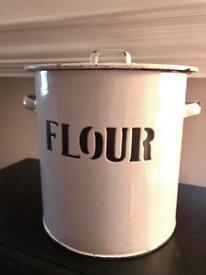 Vintage flour bin