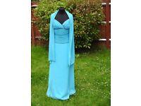 UK Size 10 Frenchie Designer Stunning Blue Prom Party Evening Occasion Dress