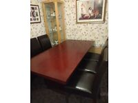 Dining Table & 6 Chairs with Sideboard