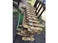 Wooden picket fencing X10